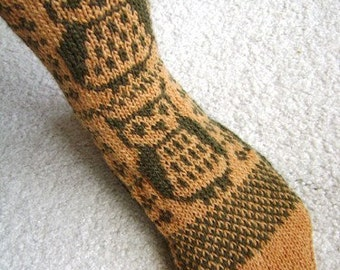 Owlsocks sock pattern