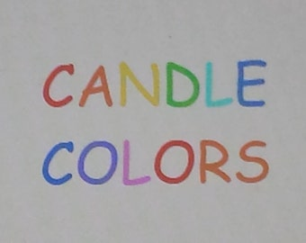 Candle Coloring