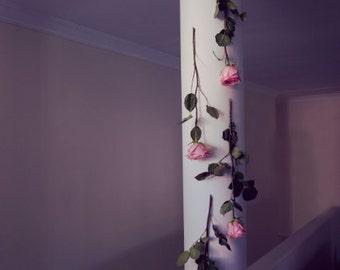 You're a Goddess - Pink Rose Photo, Dreamy Photo, Still Life Fine Art Photography, Nature, Greek Columns, Romantic Renaissance Inspired