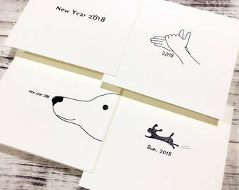 New Year's Card | 2018 The Chinese Zodiac Card | Birthday Card