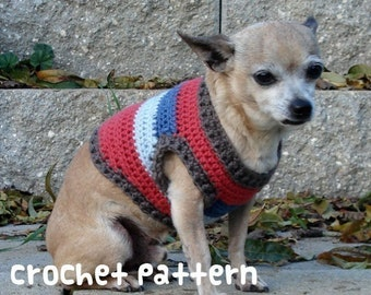 CROCHET PATTERN - Dog Sweater - PDF Instant Download - Cute Chihuahua Shirt