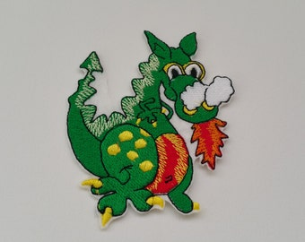 Dragon iron on or sew on applique Dragon patch Dragon embroidered patch Dragon embroidered applique Kids patches Applique dragon Dragon