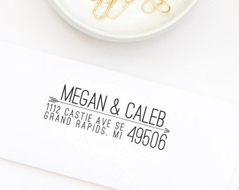 Custom Address Stamp, Return Address Stamp, Arrow Return Address Stamp, Style No. 59