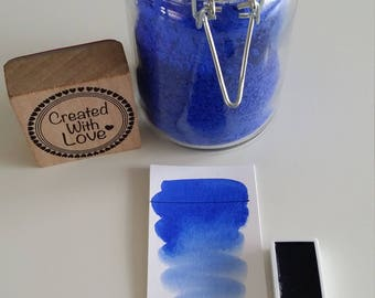 Full pan Ultramarine blue handmade watercolor