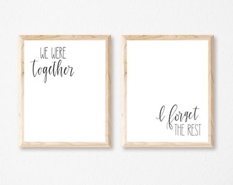 We Were Together printable set (INSTANT DOWNLOAD)