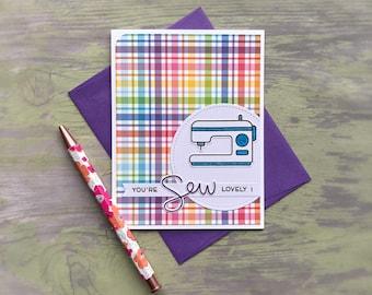 Sewing Greeting Card - Sewing Card - Sewing Machine Card - Mothers Day Greeting Card - Birthday Greeting Card - Mothers Day Card - Mom Card
