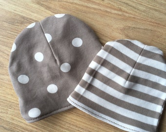 Organic Cotton Baby Hat, Handmade