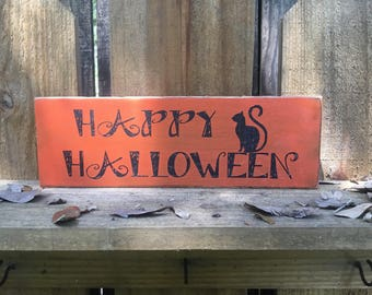 Halloween decor wood sign
