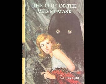 Vintage Nancy Drew 1969 Mystery Book The Clue of the Velvet Mask by Carolyn Keene #30 Vintage Book Detective Stories Vintage Mystery Book