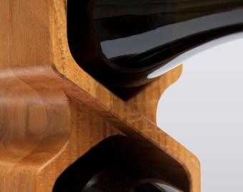 "Wine Rack ""Shift"", walnut, oak, solid wood, gift for him, gift for her"