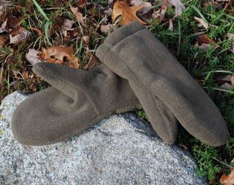 DOUBLE LAYER MittENS, SMALL adult Polar fleece mittens,