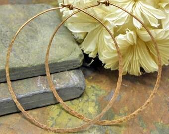 Copper Infinite Hoops,18g, 2.5 inch, Handforged by ThePurpleLilyDesigns