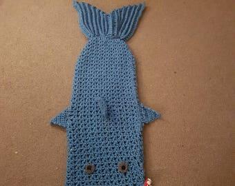 Shark snuggle blanket