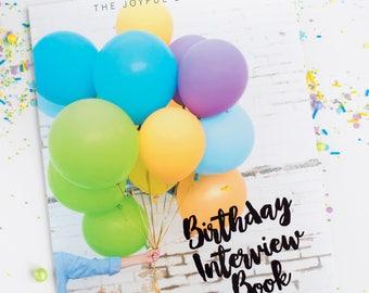 Birthday Interview Book | Modern Baby Book | Birthday Album | Birthday Journal | Yearly Interview | Interview | First Birthday Gift