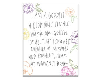 Parks and Recreation Pawnee Goddess Galentine's Day Greeting Card Leslie Knope Card Parks and Rec