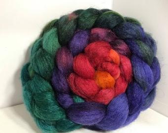 Spinning Fiber BFL/Bombyx 75/25 - 5oz - Zombie Rainbow 1