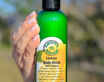 Lemon Body Wash, 100% Natural, Natural Body Wash, Handmade Soap, Natural Soap, Fresh Scent, Handcrafted, Soap, Citrus