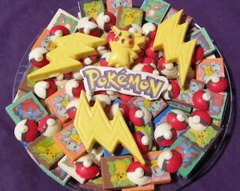 Pokemon chocolates candy tray