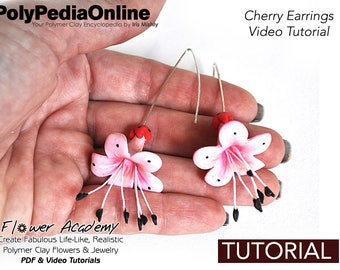 Polymer Clay Tutorial, DIY Jewelry, DIY Flowers, Table Centrepiece, Clay Flowers, Flowers Tutorial, Decoration, DIY Handmade Bead, Video