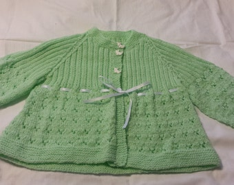New Handmade Knit Sweater Baby Size 6 to 12 months