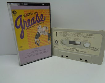Grease Original Broadway Cast Album Cassette