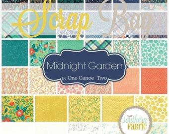 Midnight Garden - Scrap Bag Quilt Fabric Strips by One Canoe Two for Moda