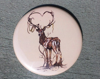 Pocket Mirror // The Great Rooted Stag