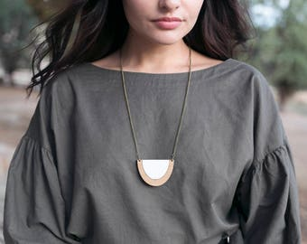 Casual necklace - minimal necklace - eco friendly jewelry - necklace for weekend - long necklaces - women necklace