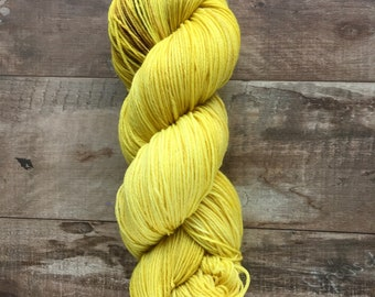 Hand Dyed Sock Yarn, Superwash Merino Wool - Forsythia (Dyed to order)