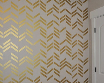 108 Gold Metallic Line Wall Stickers
