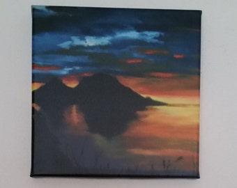 Canvas print of my original painting 'midnight Sun'