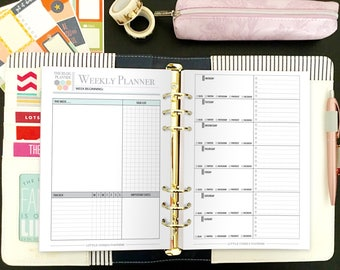 Printable Yearly Blog Planner - Blog Planning Kit - Social Media Planner - Blog Planner - Blog and Social Media Kit - Instant Download