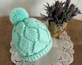 CROCHET PATTERN Baby Crochet Hat  - Diamonds Baby Hat - Beanie Pattern pdf pattern for babies Instant Download