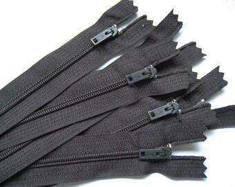 4 inch black YKK Zippers - Set of 24 pcs
