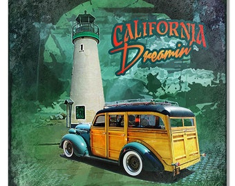 California Dreamin 12''x 12'' sign RG7690