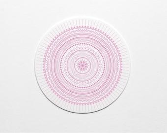 Letterpress Lavender Ornate Pattern Coaster