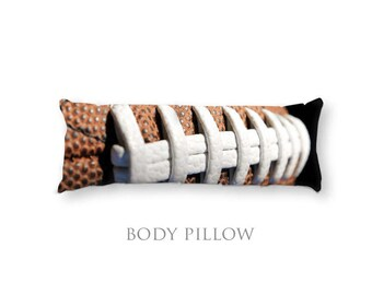 Football Body Pillow-Football Bed Pillow Cover-Fleece Pillow Cover-Extra Large Pillow-Sports Pillow Cover-Football Pillow Cover-Bed Bolster