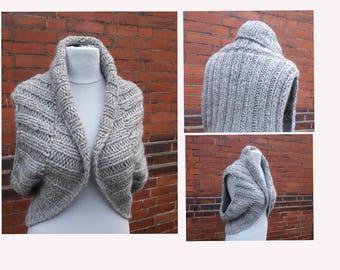 DIY knit pattern, Bolero, Vest, Sweater, knitted Bolero