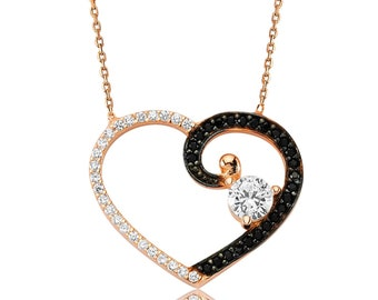 My heart Silver Solitaire Pendant - IJ1-1530