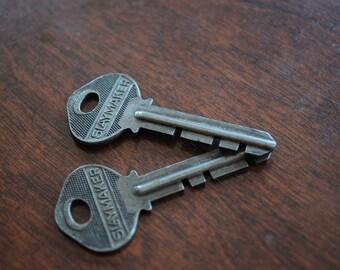 Two Slaymaker Vintage Keys.