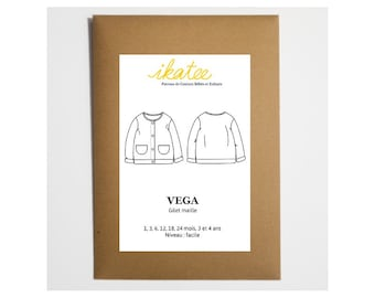 Pattern jacket mixed VEGA by Ikatee for 1 month to 4 years