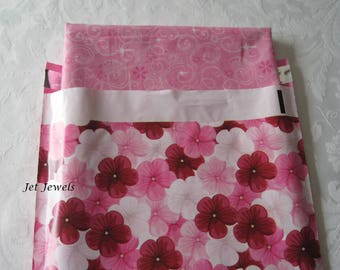 100 Pink Mailers, Mailing Envelopes, Pink Envelopes, Shipping Envelopes, Poly Mailers, Plastic Shipping Bags, Pink Flowers, Mail Bags 10x13