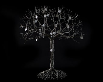 Wire Tree Sculpture of the Posterity Family Tree, Oak Tree, by OnceWire, Made to Order