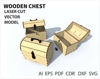 Storage Box Plans for Laser CNC Cutting Wooden Gift Box