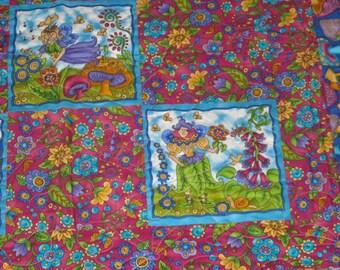 FAIRIES & FLOWERS HANDMADE Little Girl's Quilt