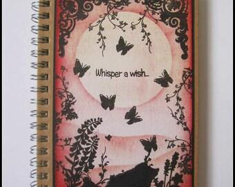 Hedgehog notebook, Hedgehog journal. Mini journal, sunset hedgehog notebook, Pocket notebook