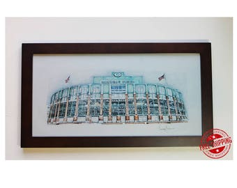 Lambeau Field art print Green Bay Packers
