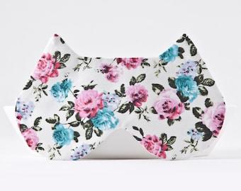 Sleep Mask for Women, Floral Eye Mask for Traveling, Sleep Mask Light Blocking, Cat Lover Gift, Travel Sleep Mask, Girlfriend Gift