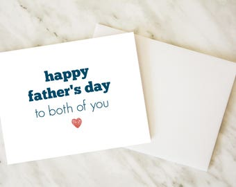 Gay Father's Day Card / Father's Day Card / Two Dads Card