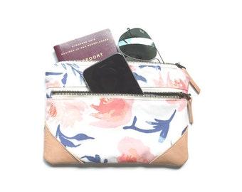 Passport holder Passport wallet Travel Wallet Minimalist wallet Mom gift Gift for her Bridesmaid gift Floral Gift for women Travel gift